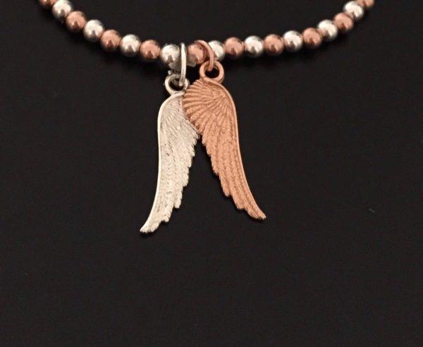 angel wing beaded stretch bracelet 5e457619