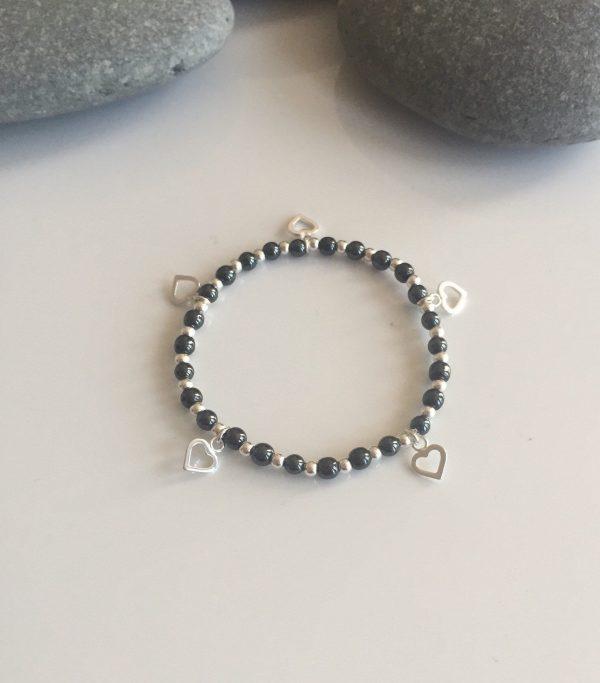 beaded heart bracelet 5e45717a