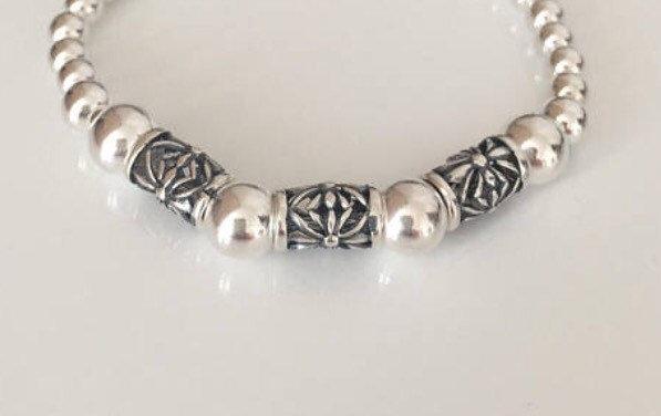 chunky sterling silver bracelet 5e45beb3