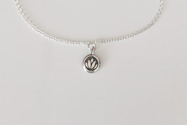 dainty silver anklet 5e45c074