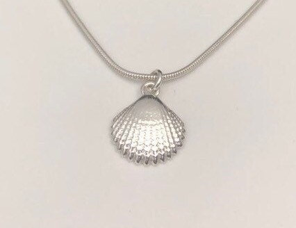 dainty sterling clam shell necklace 5e45c026