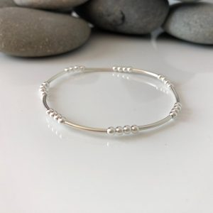 delicate sterling silver beaded stretch bracelet 5e4597b5 scaled