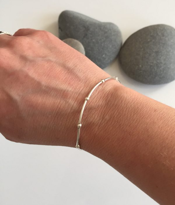 delicate sterling silver bracelet 5e457232