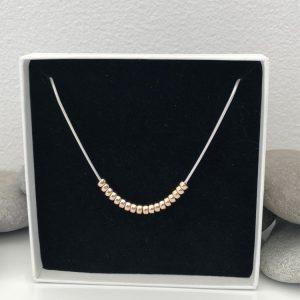 mixed metal necklace 2 5e45a92a