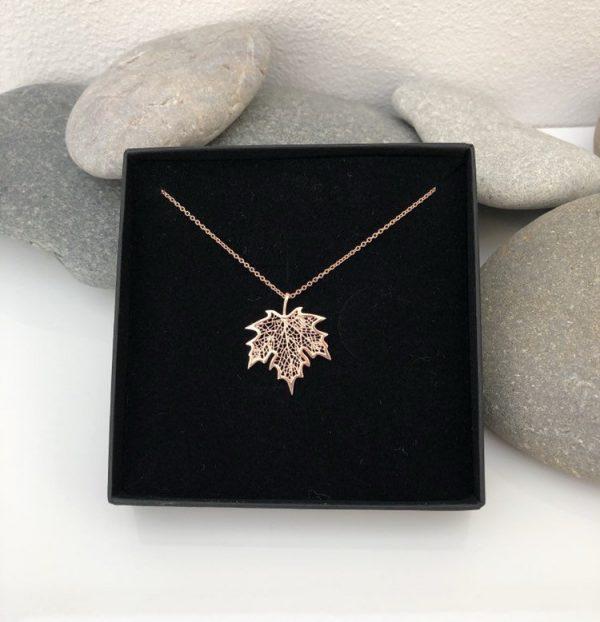rose gold maple leaf necklace 5e456c24