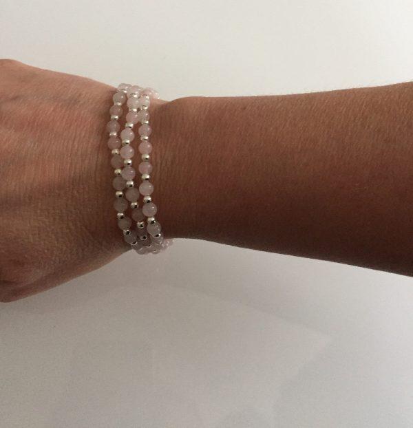 rose quartz stacking bracelets 5e459d12