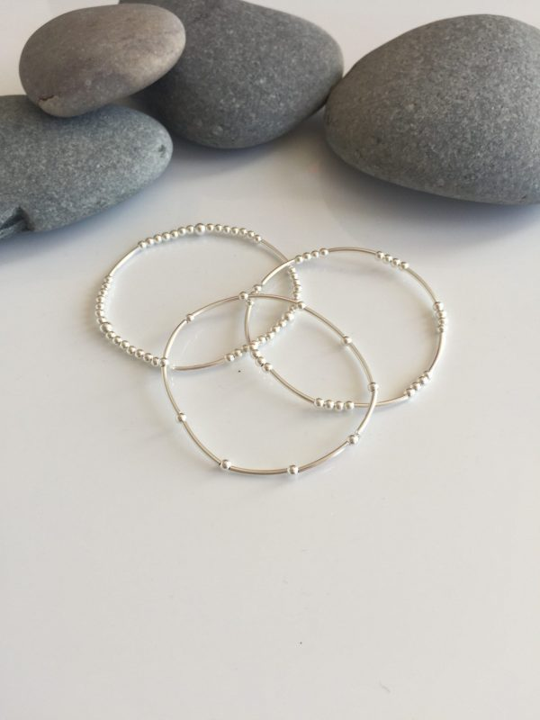set of 3 delicate sterling silver beaded noodle bracelets 5e45ab1f scaled
