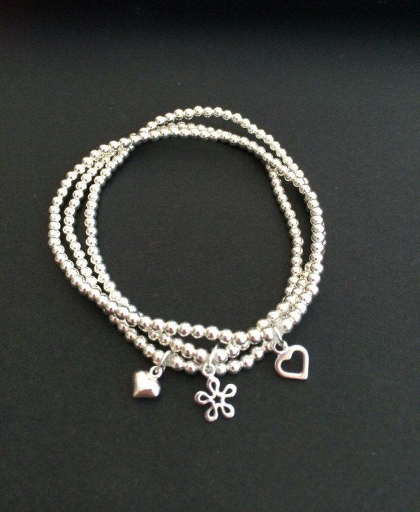 set of 3 sterling silver stacking bracelets 5e456d3f