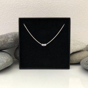 silver 30th birthday necklace 30 birthday gift 5e456c0e
