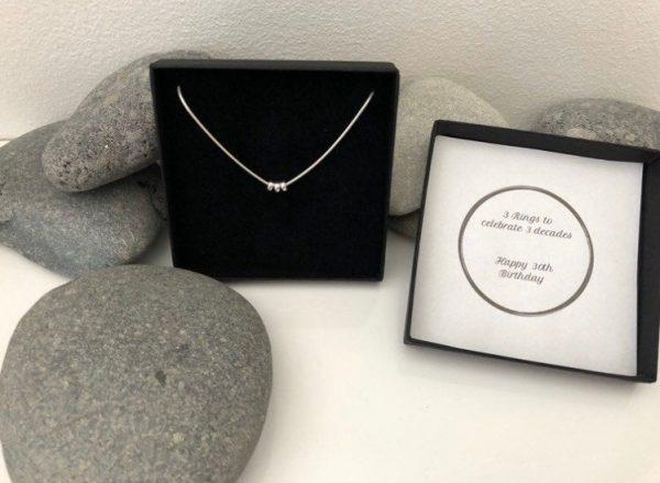silver 30th birthday necklace 30 birthday gift 5e456c15
