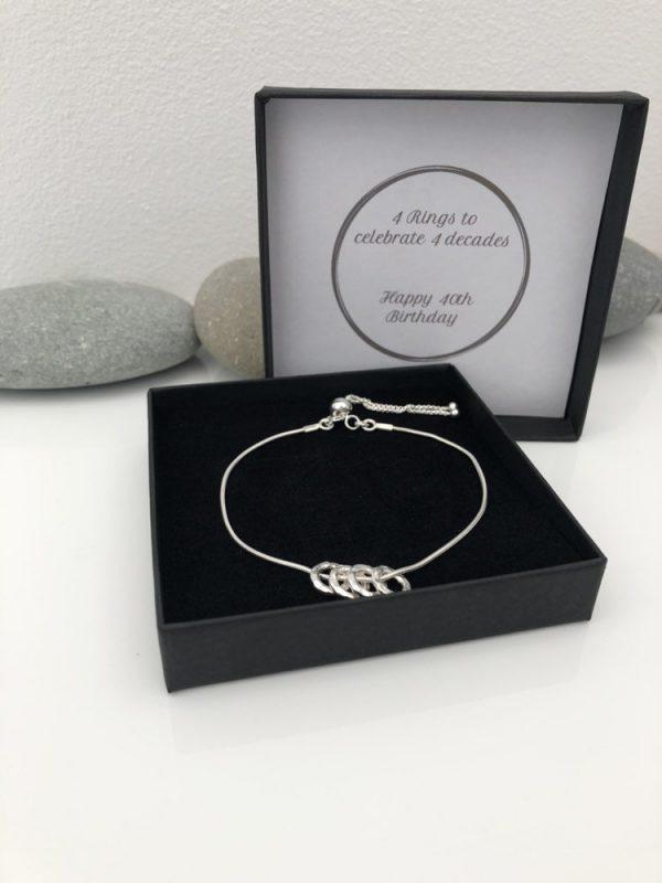 silver 40th birthday bracelet 40 birthday gift 2 5e457630