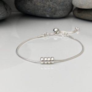 silver 40th birthday bracelet 40 birthday gift 5e456a07