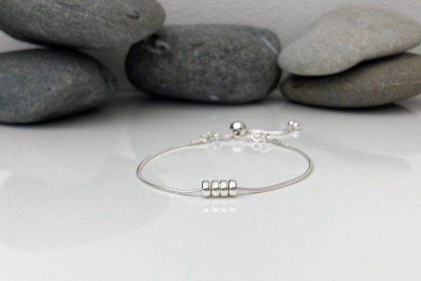 silver 40th birthday bracelet 40 birthday gift 5e456a24 scaled