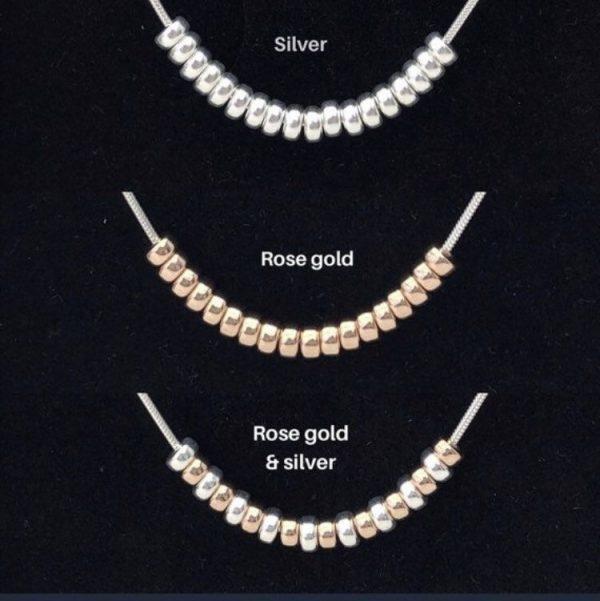 silver 40th birthday necklace 40 birthday gift 3 5e459a25