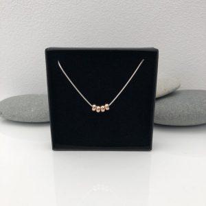 silver 40th birthday necklace 40 birthday gift 3 5e459a2e