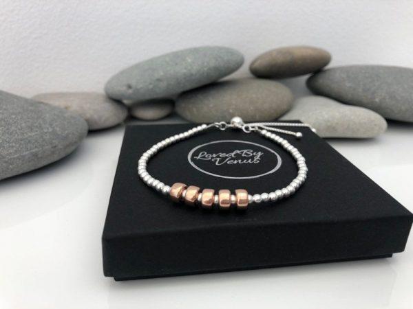 silver 50th birthday bracelet 50 birthday gift 3 5e45721f