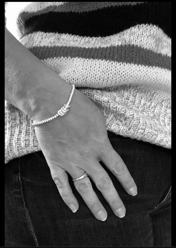 silver 50th birthday bracelet 50 birthday gift 5e456a8c