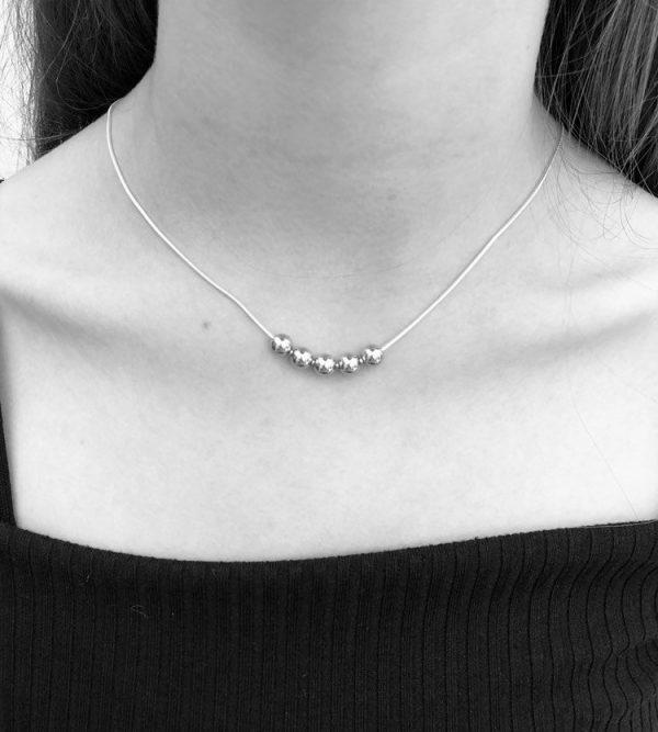silver 50th birthday necklace 50 birthday gift 3 5e456e66