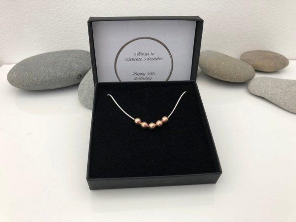 silver 50th birthday necklace 50 birthday gift 3 5e456e6b