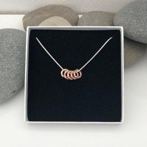 silver 50th birthday necklace 50 birthday gift 5 5e457392