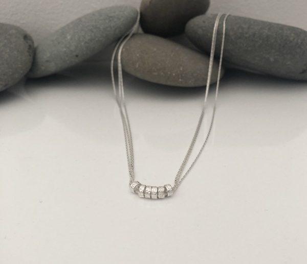 silver 50th birthday necklace 50 birthday gift 5e456c7f