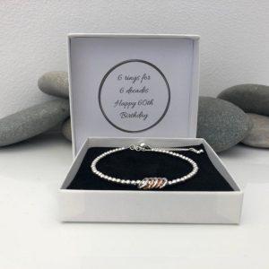 silver 60th birthday bracelet 5e456f65