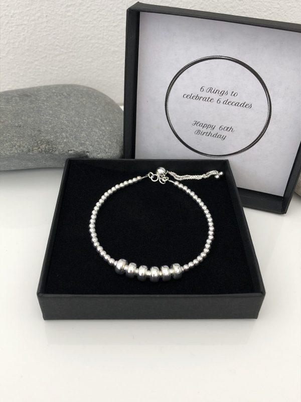 silver 60th birthday bracelet 60 birthday gift 3 5e456be2 scaled