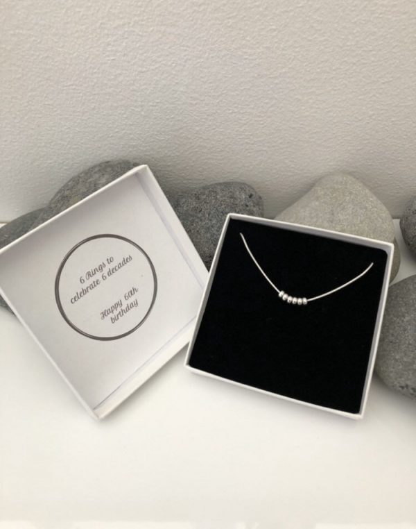 silver 60th birthday necklace 60 birthday gift 5e456d5a