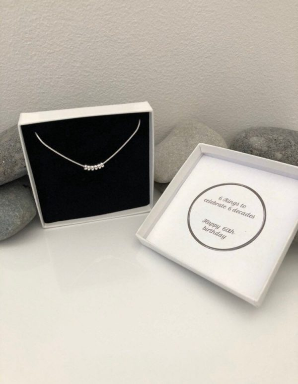 silver 60th birthday necklace 60 birthday gift 5e456d64