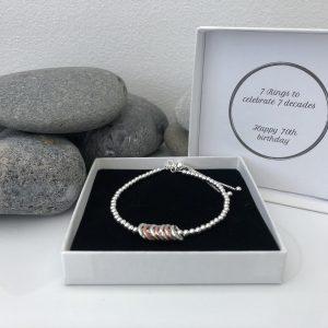 silver 70th birthday bracelet 5e459f7b scaled