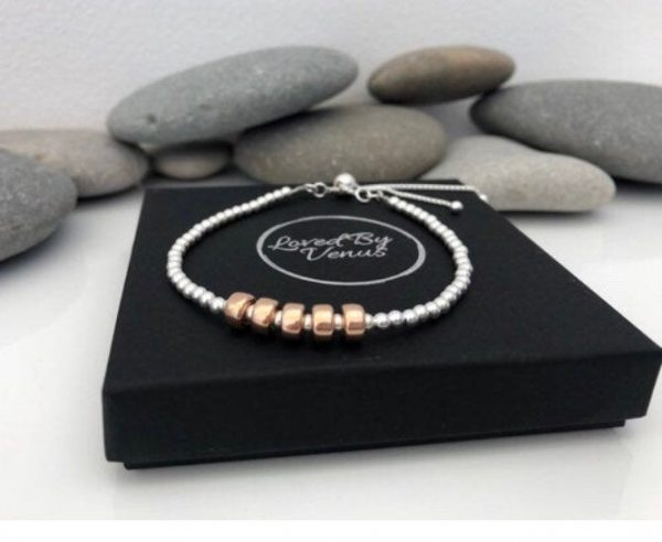 silver 70th birthday bracelet 70 birthday gift 5e459fd0