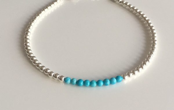 silver and turquoise anklet 5e45b693