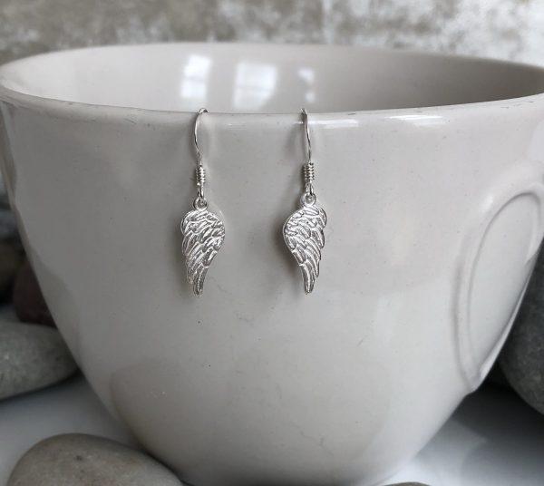 silver angel wing earrings 5e45addd