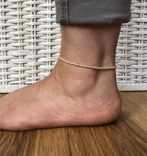 silver beaded anklet 2 5e4597d4