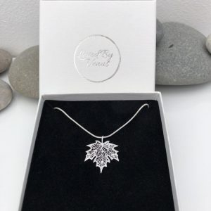 silver maple leaf necklace 5e459a3b