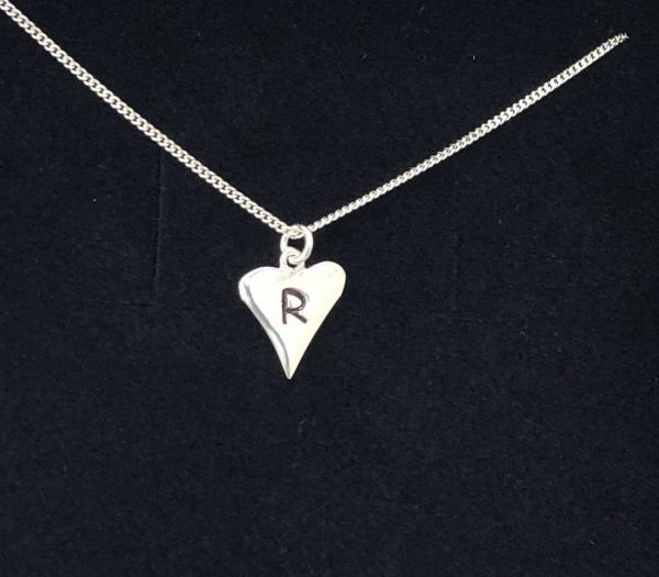 silver personalised heart necklace 5e4570d9
