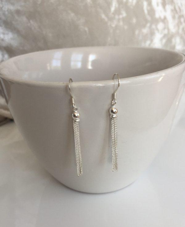 silver tassel earrings 5e459d41