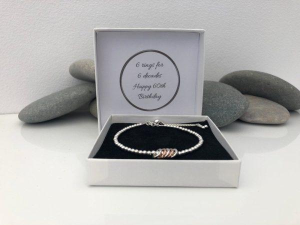 sterling silver 40th birthday bracelet 2 5e456c60