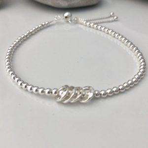 sterling silver 40th birthday bracelet 2 5e456c62