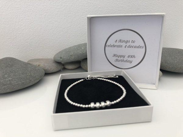 sterling silver 40th birthday bracelet 5e4569bc