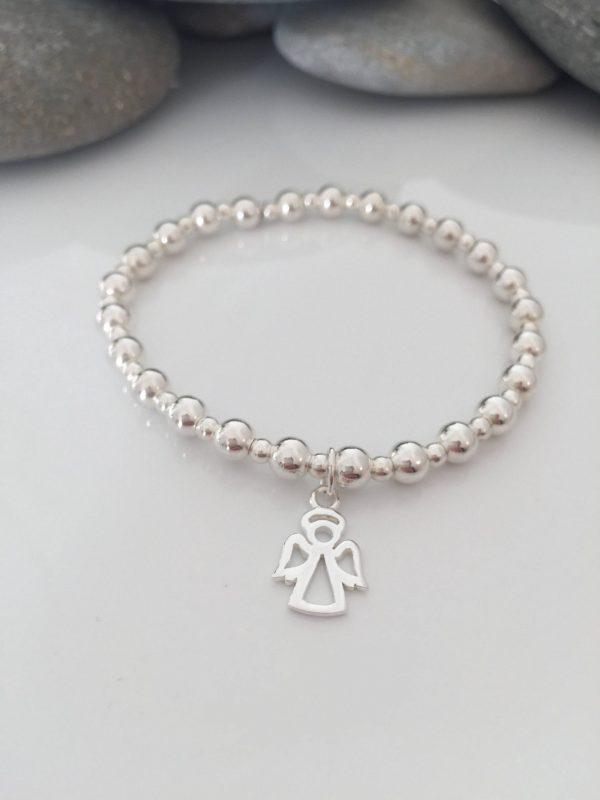 sterling silver angel charm bracelet 5e457574 scaled