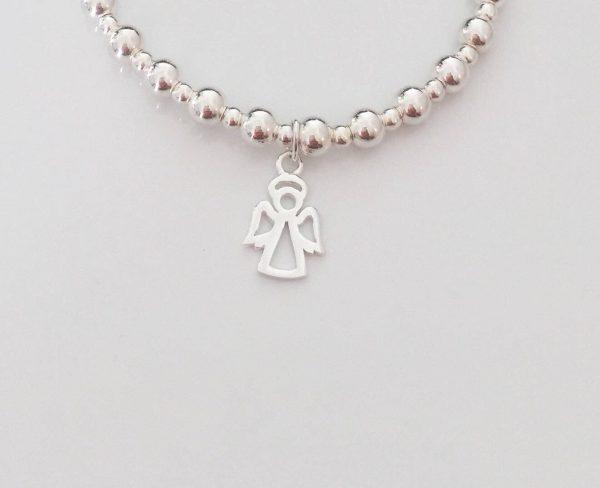 sterling silver angel charm bracelet 5e45757e