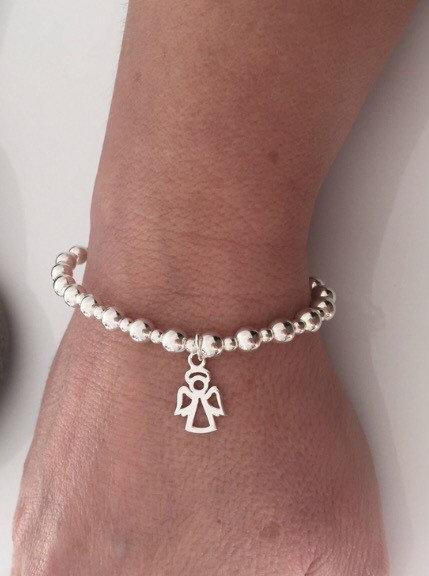 sterling silver angel charm bracelet 5e45758c