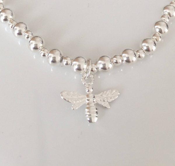 sterling silver bee bracelet 5e45bd76