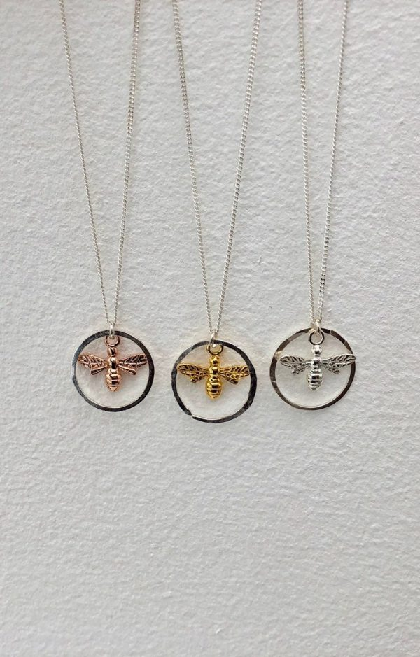 sterling silver bee necklace 5e45bdf3