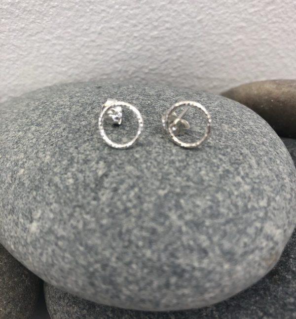 sterling silver circle stud earrings circle studs circle earrings dainty circle studs 5e45cf64
