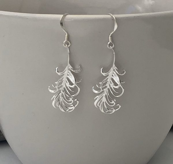 sterling silver feather earrings 5e45ac6f