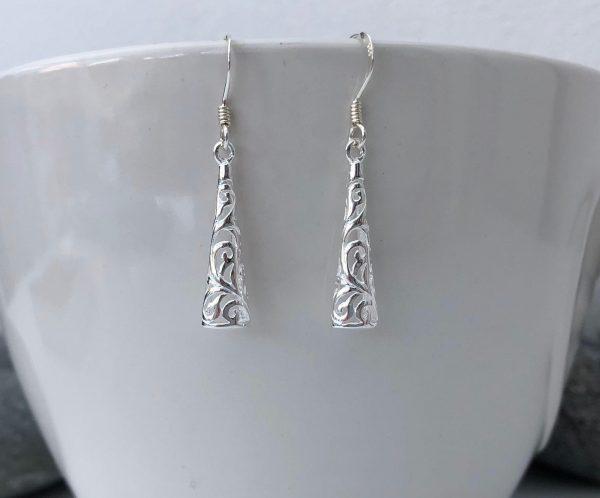 sterling silver filigree earrings 5e459e11