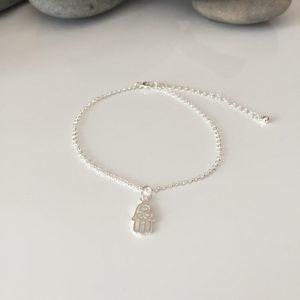 sterling silver hamsa hand fine chain bracelet 5e4594e6 scaled