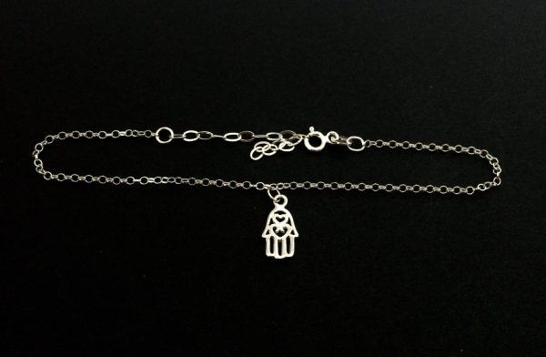 sterling silver hamsa hand fine chain bracelet 5e459500